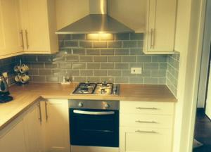 Kitchen refit for Mrs.S in spalding. Kitchen supplied & fitted plus 11 m2 of tiling.